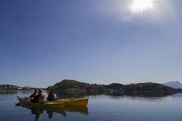 3 yellow kayaks