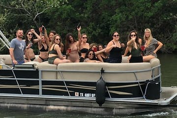 people partying on a pontoon boat