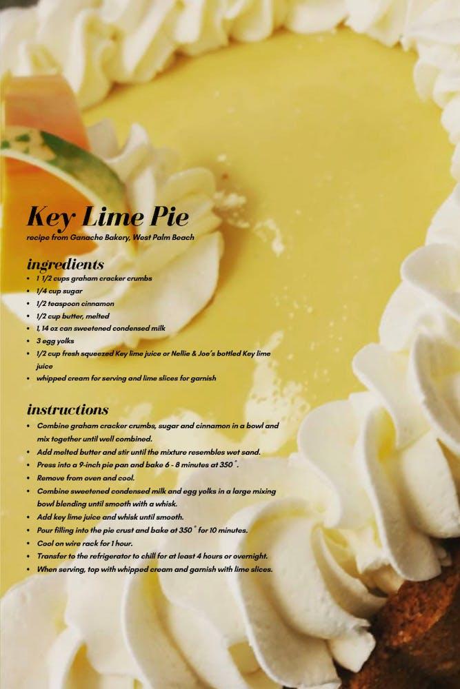 key lime pie close up