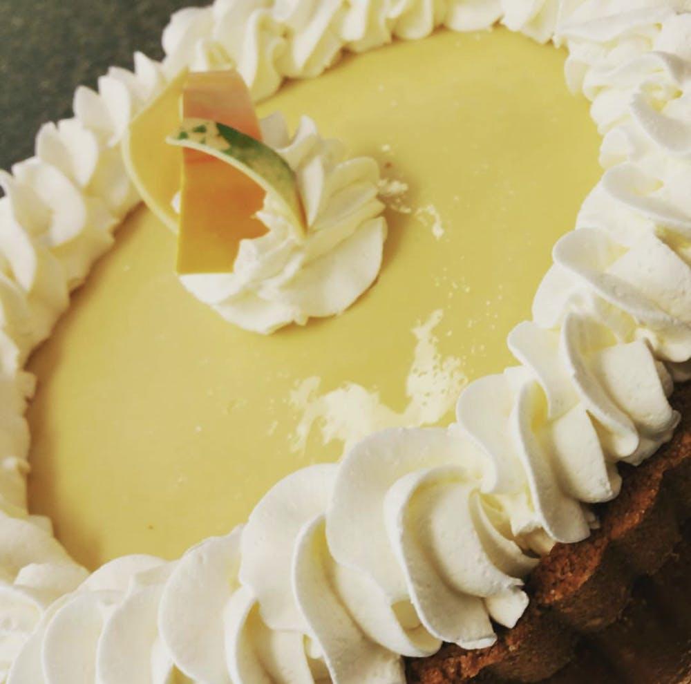 key lime pie on a plate