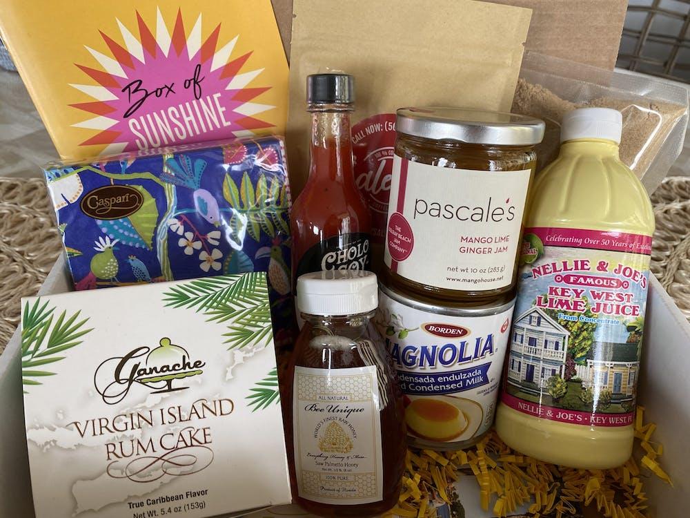 box of sunshine gourmet gift box