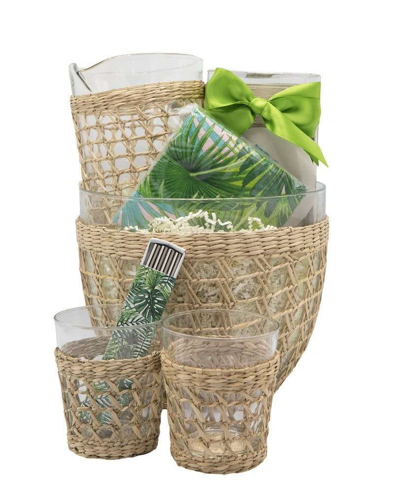 a basket filled with gifts