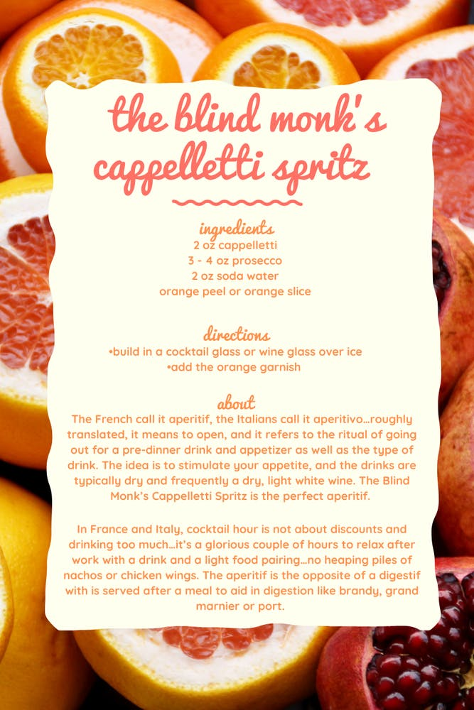 orange recipe card