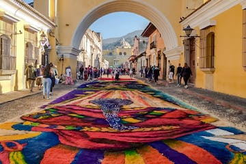 a colorful rug