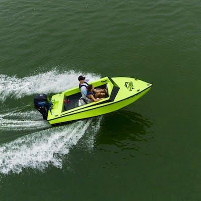 Speedboat on the water in Hilton Head, SC