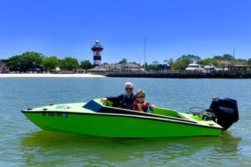Speedboat dolphin cruise
