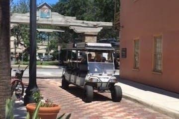 Golf cart tour, Aviles Street, St Augustine Florida