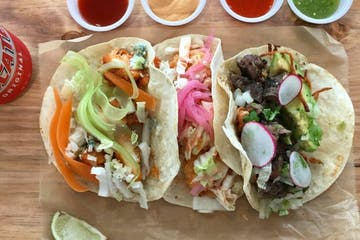 a sample of various tacos
