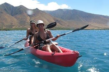 tandem kayak girls