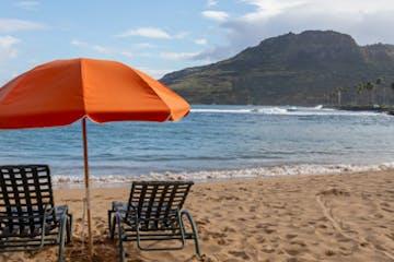Beach chair and umbrella rentals