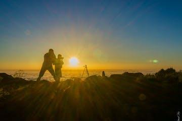 tourists enjoy the sunrise tour