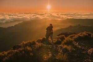 romantic sunrise at pico do Arieiro