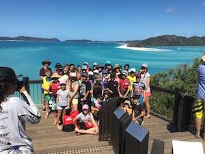Explore Whitsundays - School Group at Whitehaven Beach