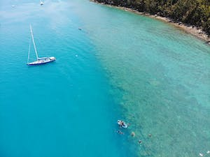 Snorkelling off Southern Cross in the Whitsundays
