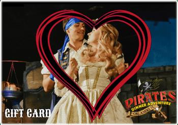 Pirates Dinner Adventure Valentines Day Gift Card