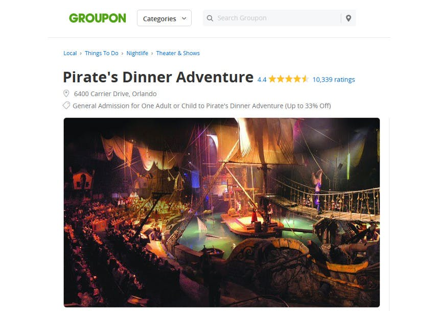 Groupon Ticket Vouchers