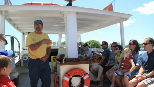 lobster boat tour group