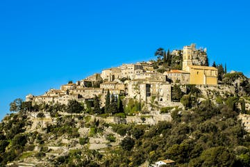 a castle on a hill in Eze