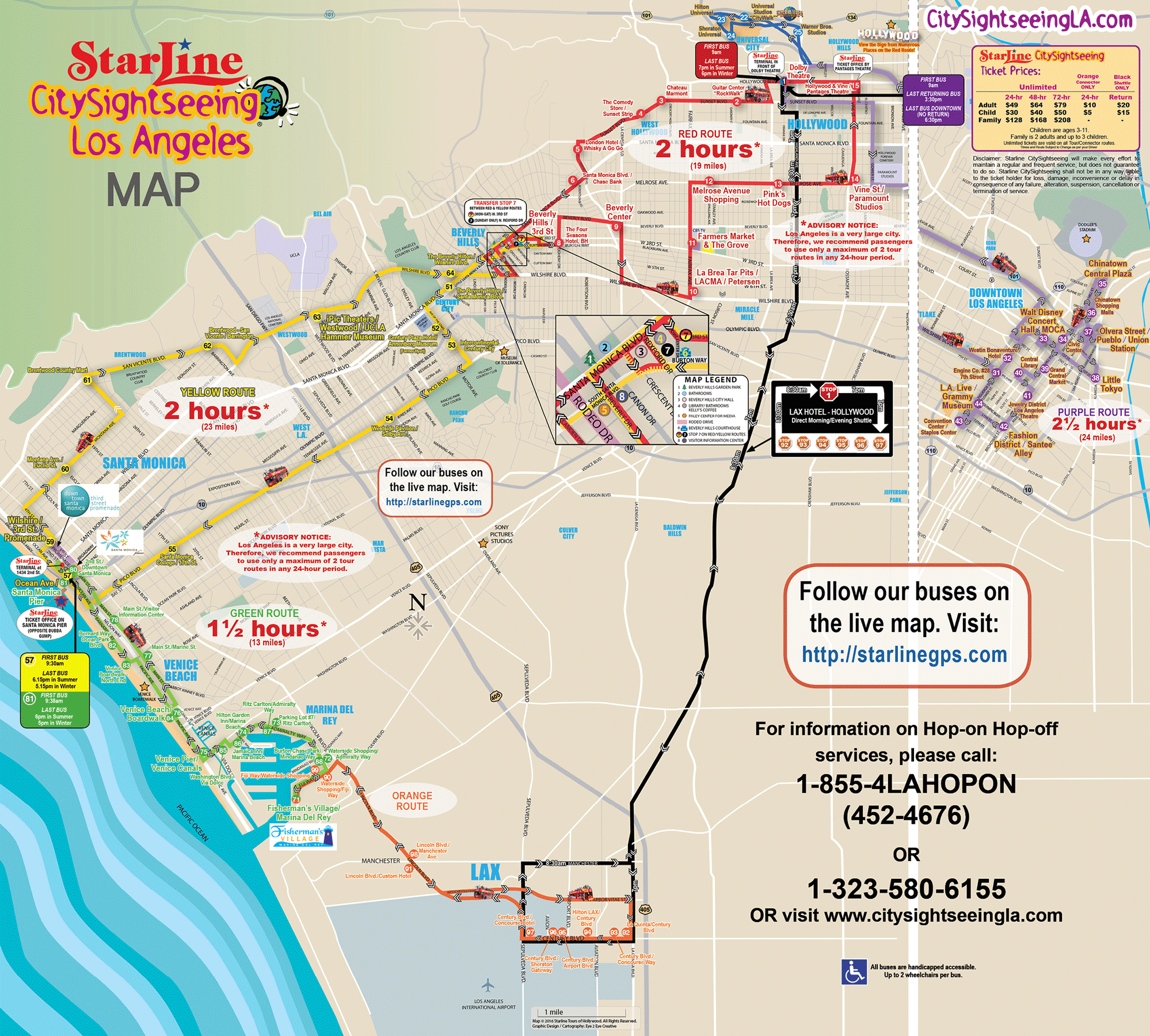 Hop On-Hop Off Bus (Hollywood Red Loop Only) | Starline Tours