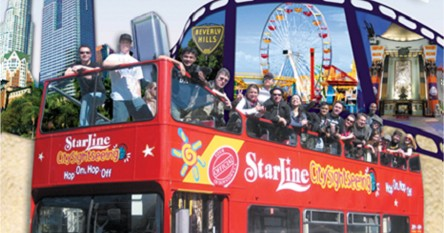 Hopon Hopoff Double Decker City Tour 72 Hours Starline: Starline Hop On Hop Off Los Angeles Map At Infoasik.co