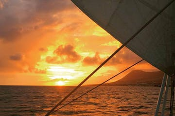 sunset on sail