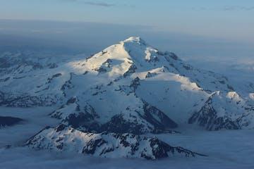 a view of Glacier Peak in the Central Cascades