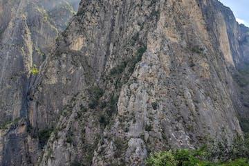 the giant limestone formations of El Potrero Chico, Mexico