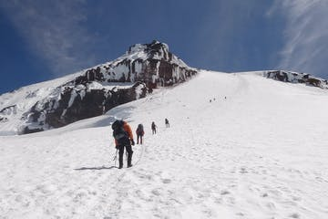 climbers on an advanced mountaineering course on Mount Baker near Seattle