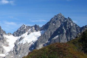 the steep West Arete of Eldorado Peak