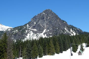 Guye Peak from the Snoqualmie Pass ski area