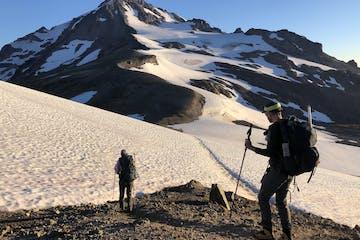 climbers on Glacier Peak in the Cascades