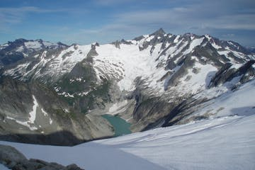 a view of Forbidden Peak and Mount Torment