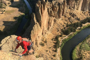 multipitch rock climbing course at Smith Rock State Park, Oregon