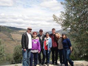 group of tourists enjoy a tour