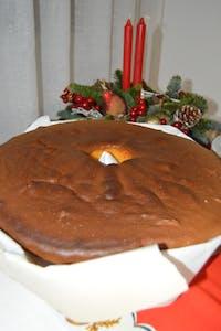 Pão-de-ló sponge cake Christmans cake