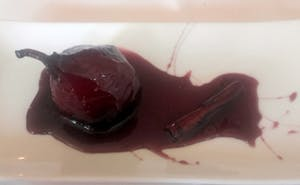 Pears Poached in Ruby Port With Spices