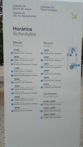 Fatima Mass Schedule Portugal