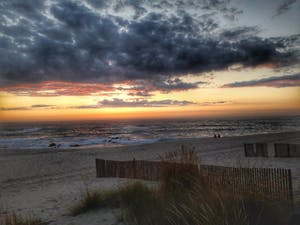 a sunset beach in Portugal