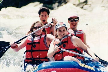 white water rafting on the river