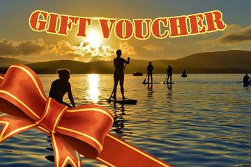 gift voucher image of people stand up paddle boarding