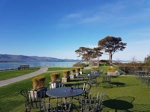 veranda overlooking kenmare bay at parknasilla resort and spa