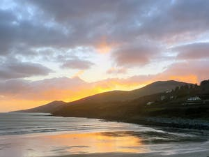 sunset over Inch Beach Kerry Ireland