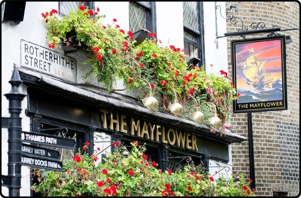a pub front at day