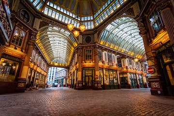 a large building with Leadenhall Market in the background