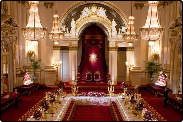 an elegant ballroom