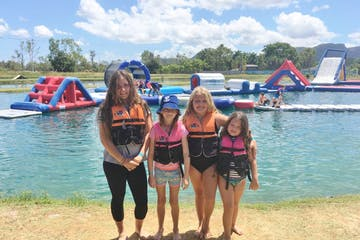 4 girls enjoying the water park