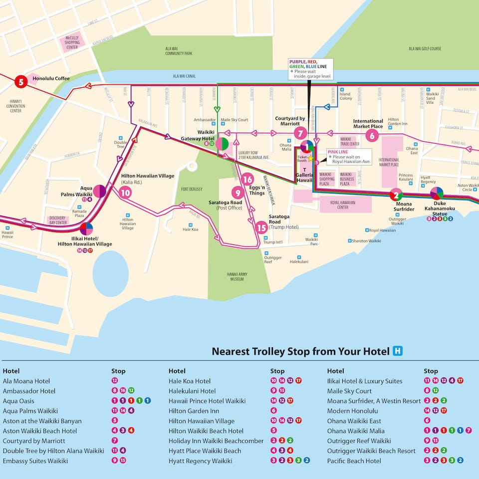 Waikiki Map Hotels With And Condos From