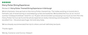 red bus bistro harry potter tour