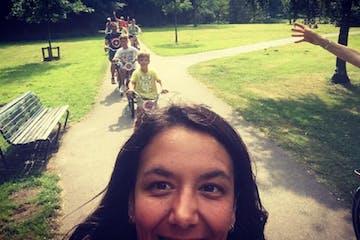 Tour en bicicleta en el parque