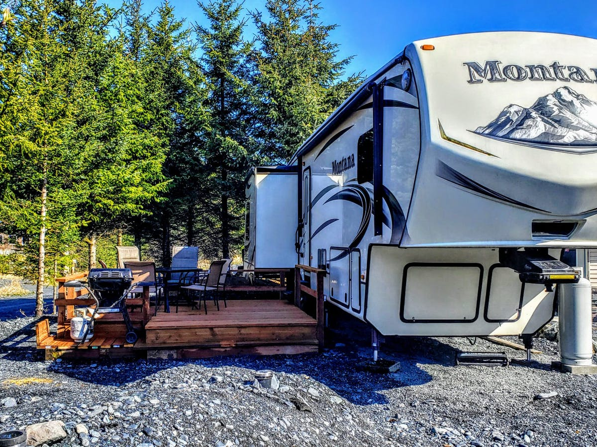 Oceanfront Inn Camper - Exterior; Lodging in Seward, AK